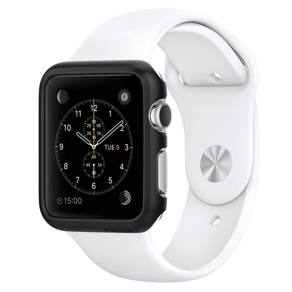 Чехол Spigen Thin Fit Smooth Black для Apple Watch Series 1 38mm