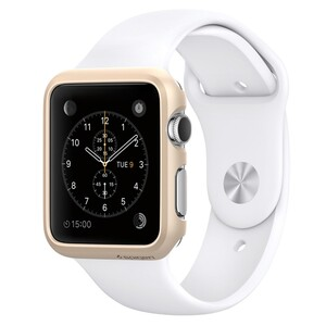 Купить Чехол Spigen Thin Fit Champagne Gold для Apple Watch 42mm