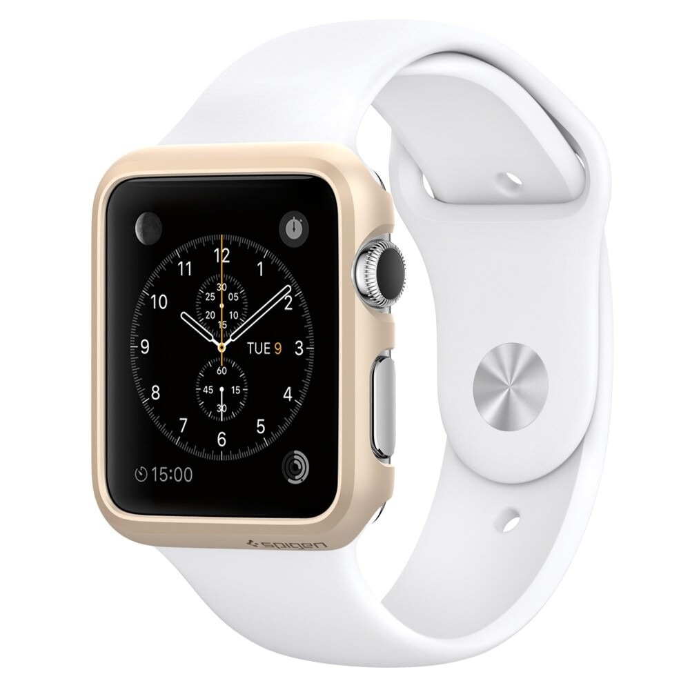 Чехол Spigen Thin Fit Champagne Gold для Apple Watch Series 1 38mm