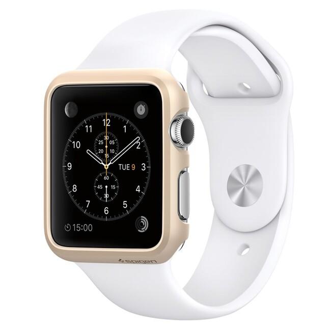 Чехол Spigen Thin Fit Champagne Gold для Apple Watch 38mm