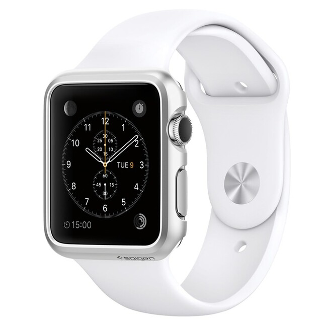 Чехол Spigen Thin Fit Satin Silver для Apple Watch 42mm