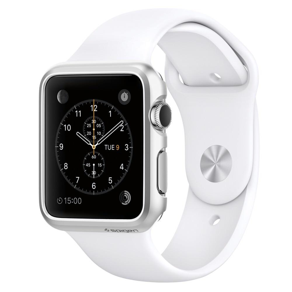 Чехол Spigen Thin Fit Satin Silver для Apple Watch Series 1 38mm