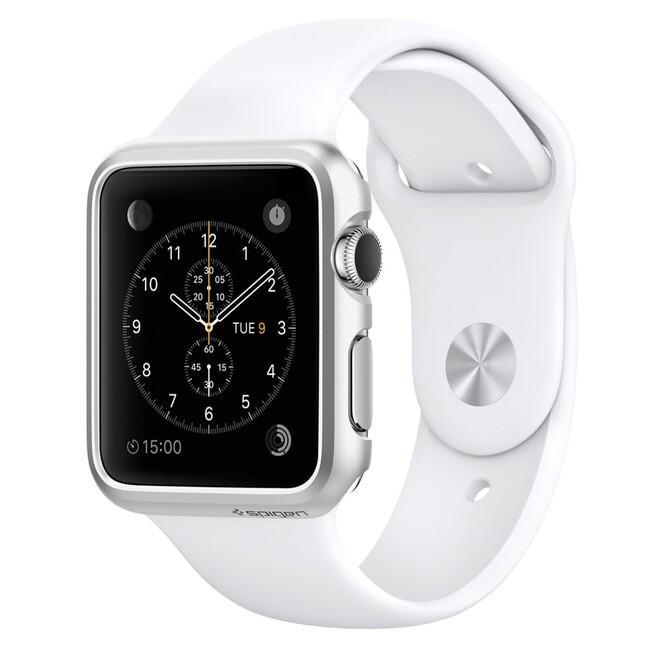 Чехол Spigen Thin Fit Satin Silver для Apple Watch 38mm