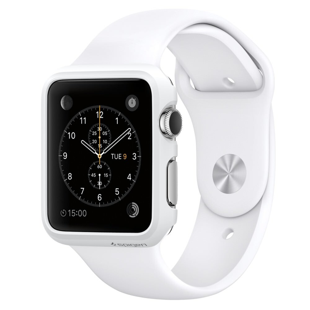Чехол Spigen Thin Fit Smooth White для Apple Watch Series 1 42mm