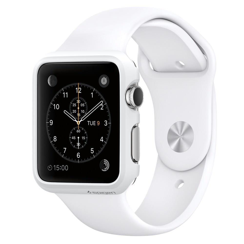 Чехол Spigen Thin Fit Smooth White для Apple Watch Series 1 38mm