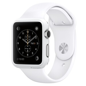 Купить Чехол Spigen Thin Fit Smooth White для Apple Watch 38mm