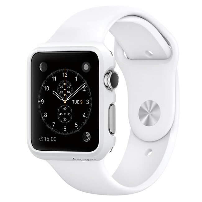 Чехол Spigen Thin Fit Smooth White для Apple Watch Series 1 38mm