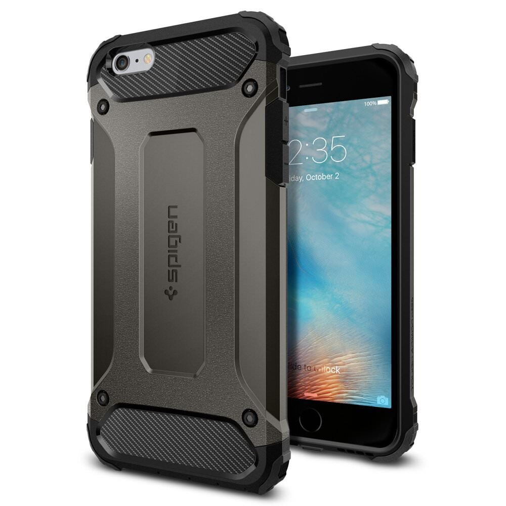 Чехол Spigen Tough Armor Tech Gunmetal для iPhone 6/6s Plus
