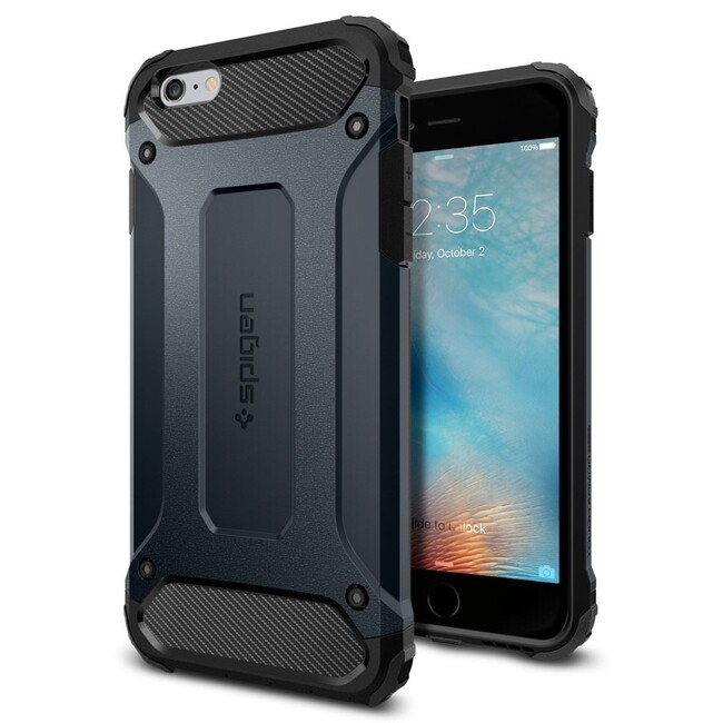 Чехол Spigen Tough Armor Tech Metal Slate для iPhone 6/6s Plus