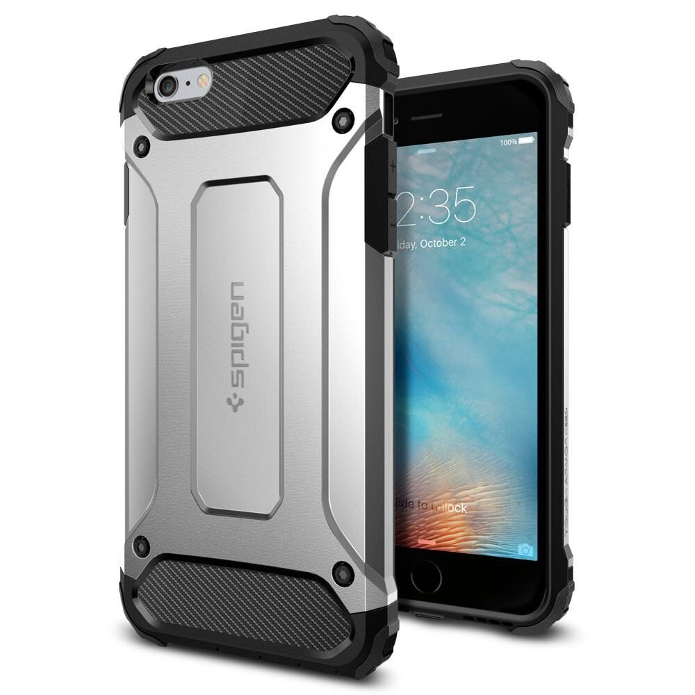 Чехол Spigen Tough Armor Tech Satin Silver для iPhone 6/6s Plus