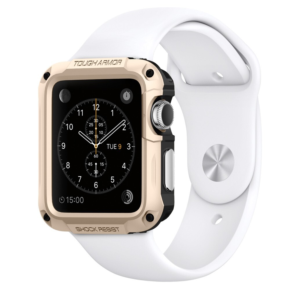 Чехол Spigen Tough Armor Champagne Gold для Apple Watch Series 1 & 2 42mm