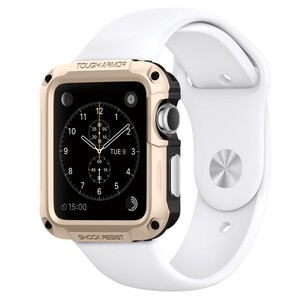 Купить Чехол Spigen Tough Armor Champagne Gold для Apple Watch Series 1 & 2 42mm