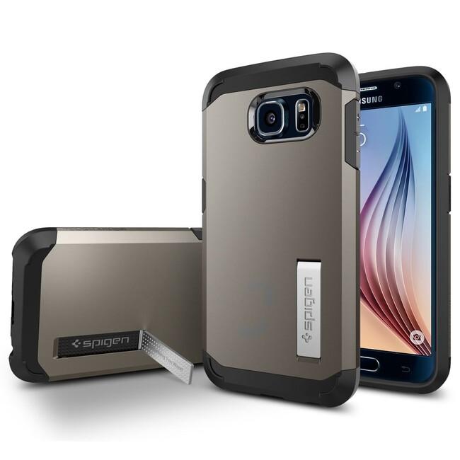Чехол Spigen Tough Armor Gunmetal для Samsung Galaxy S6