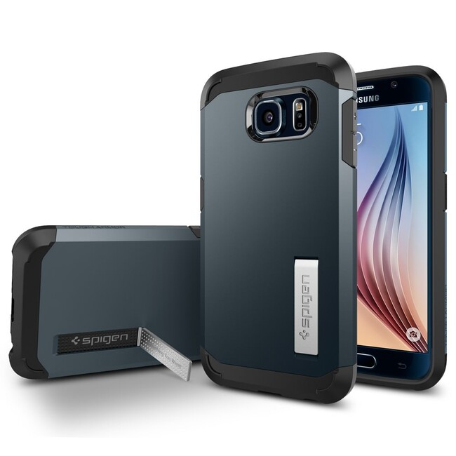 Чехол Spigen Tough Armor Metal Slate для Samsung Galaxy S6