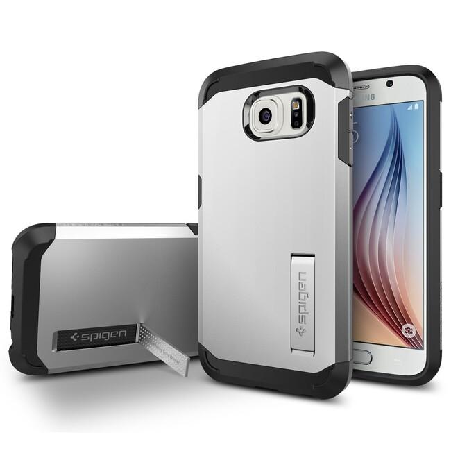 Чехол Spigen Tough Armor Satin Silver для Samsung Galaxy S6