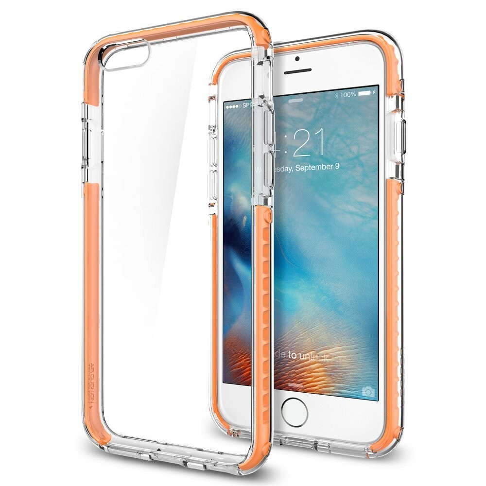 Чехол Spigen Ultra Hybrid TECH Crystal Orange для iPhone 6/6s