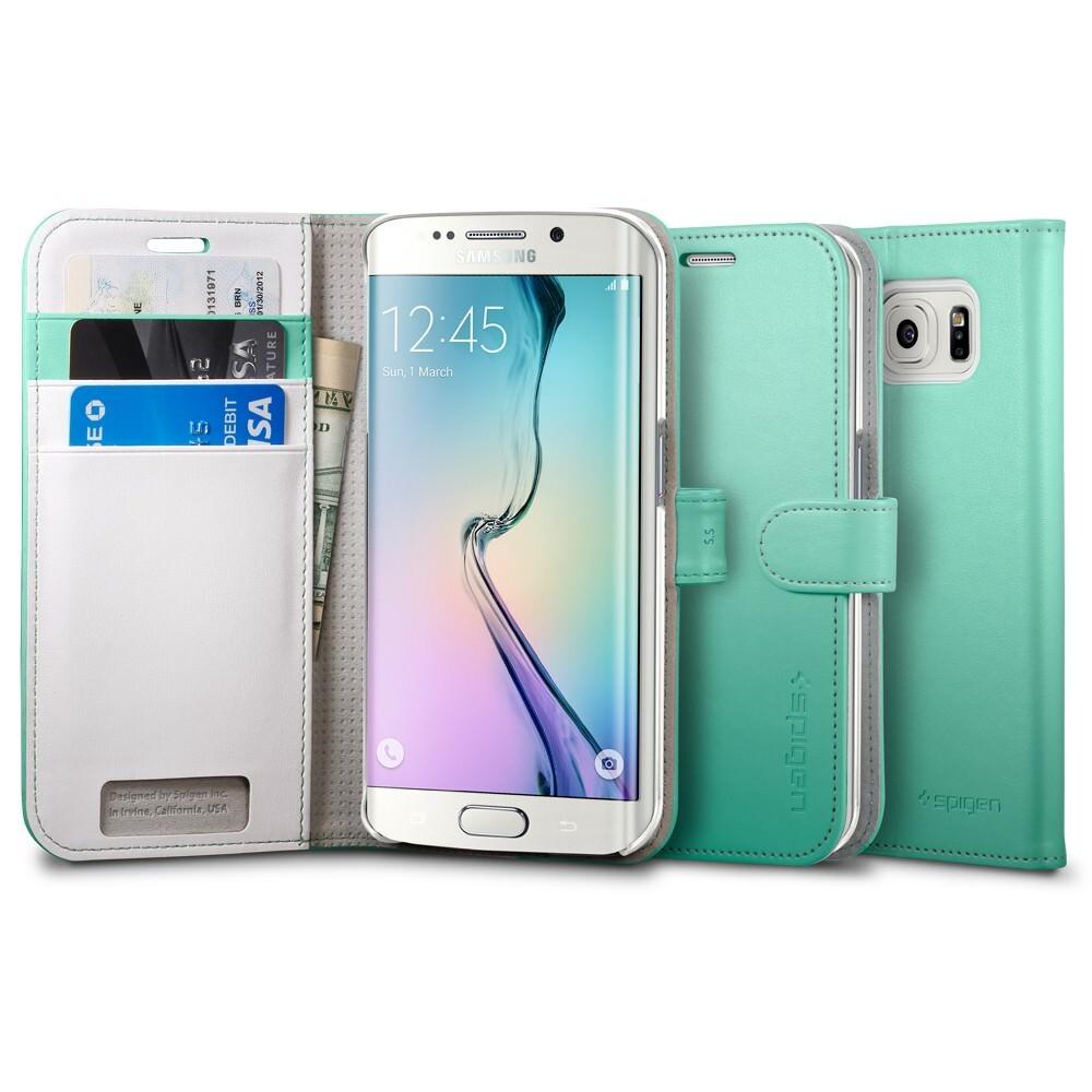 Чехол Spigen Wallet S Mint для Samsung Galaxy S6 Edge