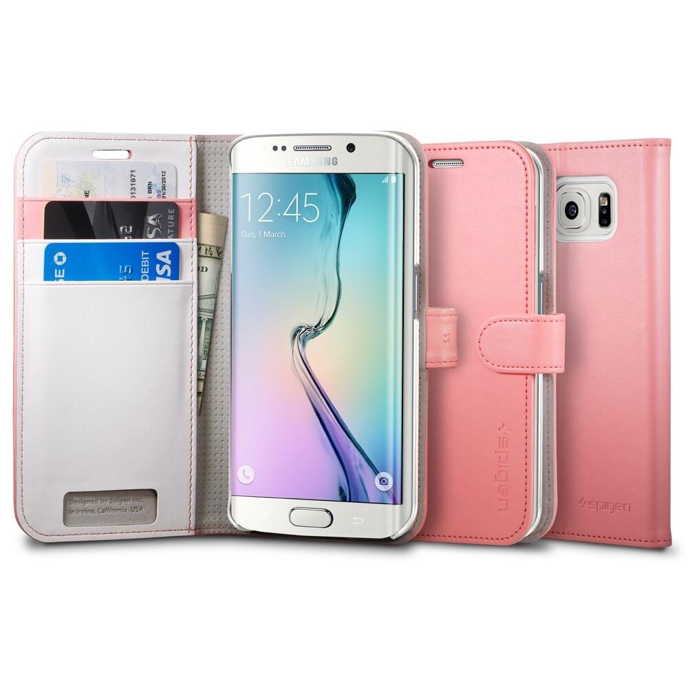 Чехол Spigen Wallet S Azalea Pink для Samsung Galaxy S6 Edge