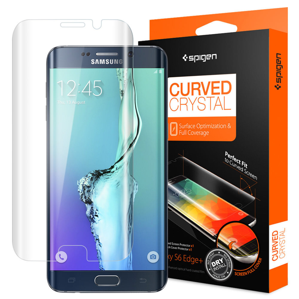Защитная пленка Spigen Curved Crystal для Samsung Galaxy S6 Edge+