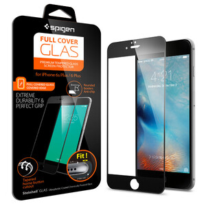 Защитное стекло Spigen Full Cover Glass Black для iPhone 6/6s Plus