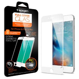 Купить Защитное стекло Spigen Full Cover Glass White для iPhone 6/6s Plus