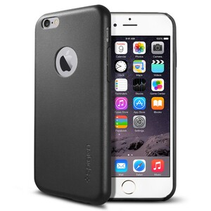 Купить Кожаный чехол Spigen SGP Leather Fit Black для iPhone 6/6s