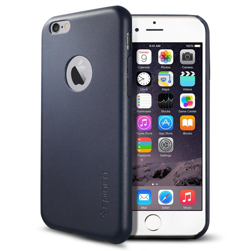 Кожаный чехол Spigen SGP Leather Fit Midnight Blue для iPhone 6/6s