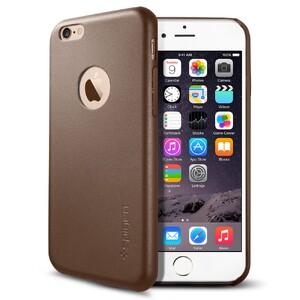 Купить Кожаный чехол Spigen SGP Leather Fit Olive Brown для iPhone 6/6s
