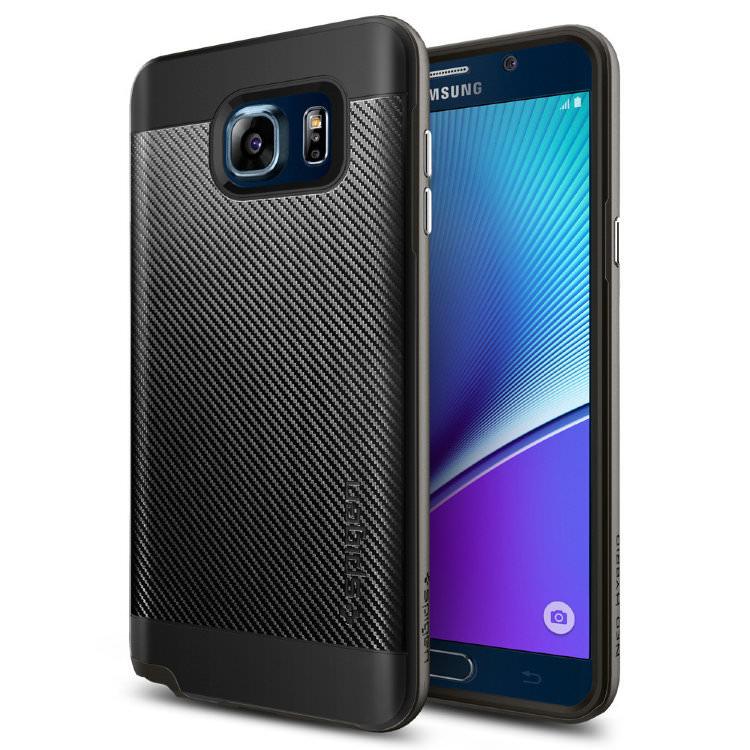 Купить Чехол Spigen Neo Hybrid Carbon Gunmetal для Samsung Galaxy Note 5