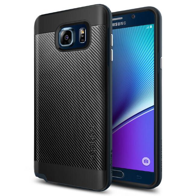 Чехол Spigen Neo Hybrid Carbon Metal Slate для Samsung Galaxy Note 5