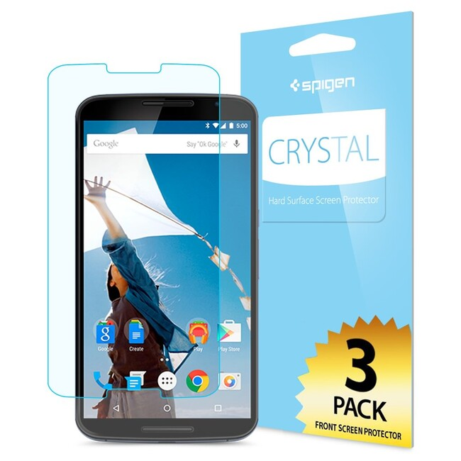 Защитная пленка Spigen Crystal для Motorola Nexus 6