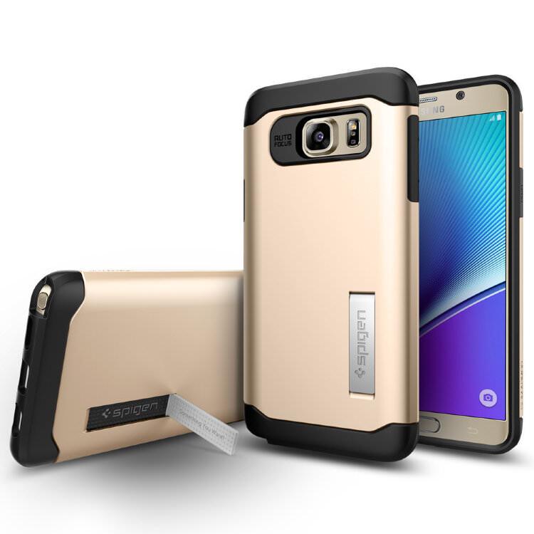 Чехол Spigen Slim Armor Champagne Gold для Samsung Galaxy Note 5