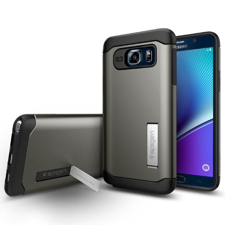 Купить Чехол Spigen Slim Armor Gunmetal для Samsung Galaxy Note 5