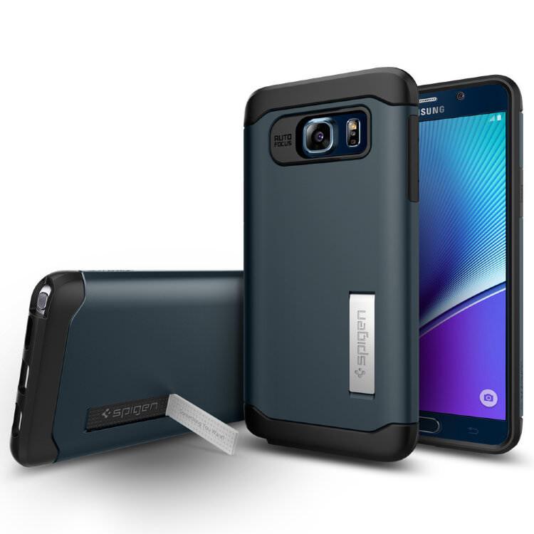 Чехол Spigen Slim Armor Metal Slate для Samsung Galaxy Note 5