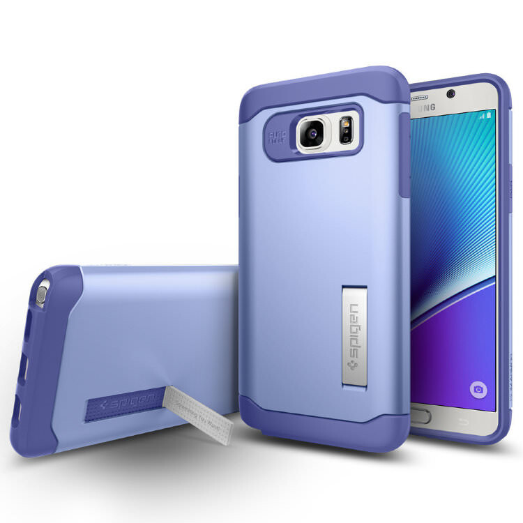Чехол Spigen Slim Armor Violet для Samsung Galaxy Note 5