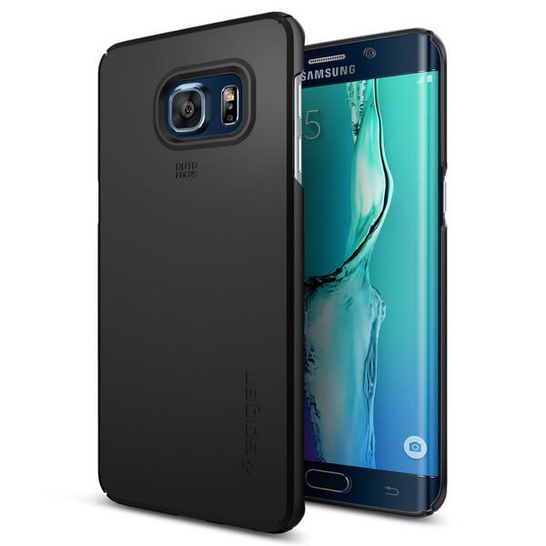 Чехол Spigen Thin Fit Black для Samsung Galaxy S6 Edge+