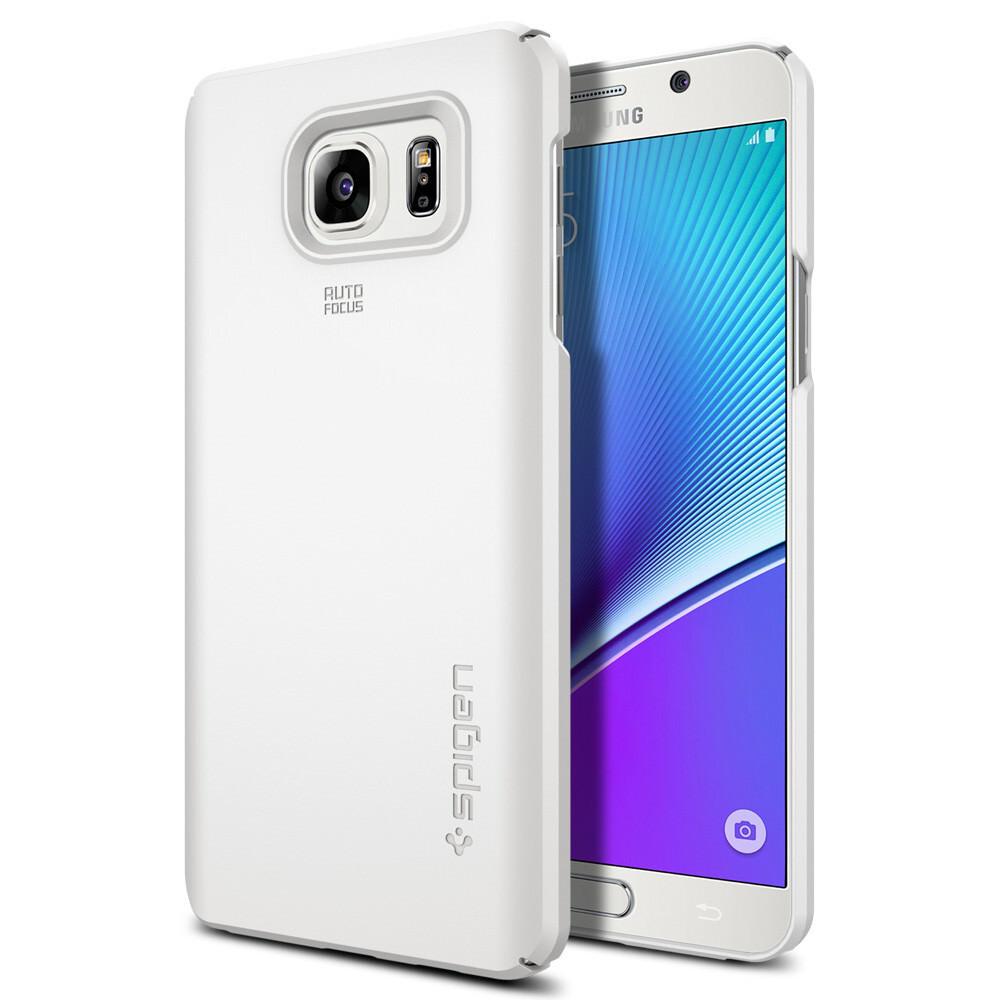Чехол Spigen Thin Fit Shimmery White для Samsung Galaxy Note 5