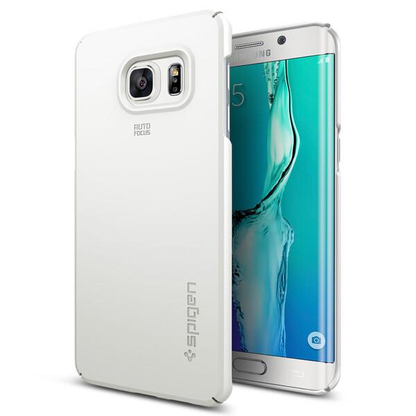 Чехол Spigen Thin Fit Shimmery White для Samsung Galaxy S6 Edge+