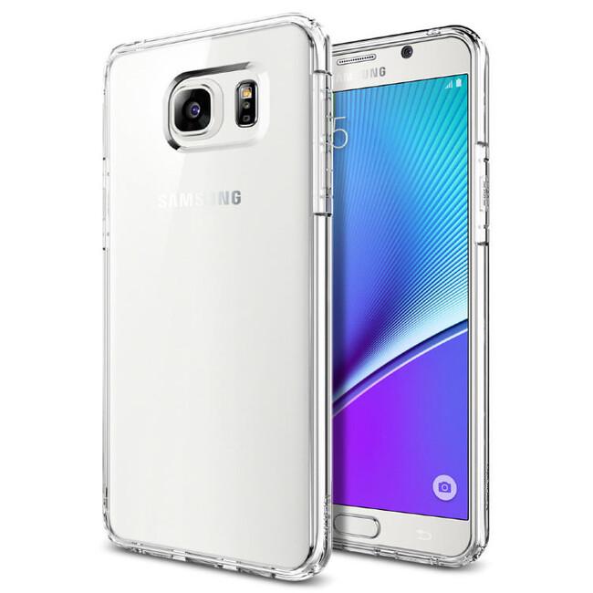 Прозрачный чехол Spigen Ultra Hybrid Crystal Clear для Samsung Galaxy Note 5