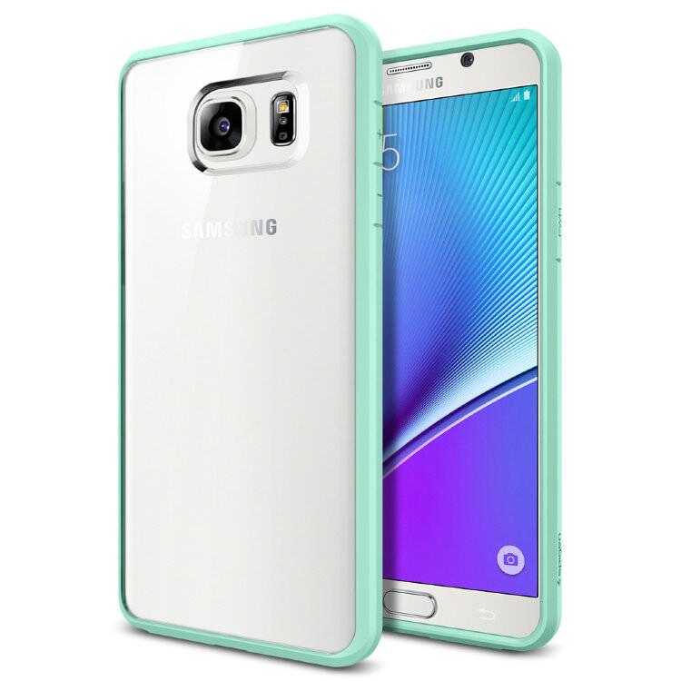 Чехол Spigen Ultra Hybrid Mint для Samsung Galaxy Note 5
