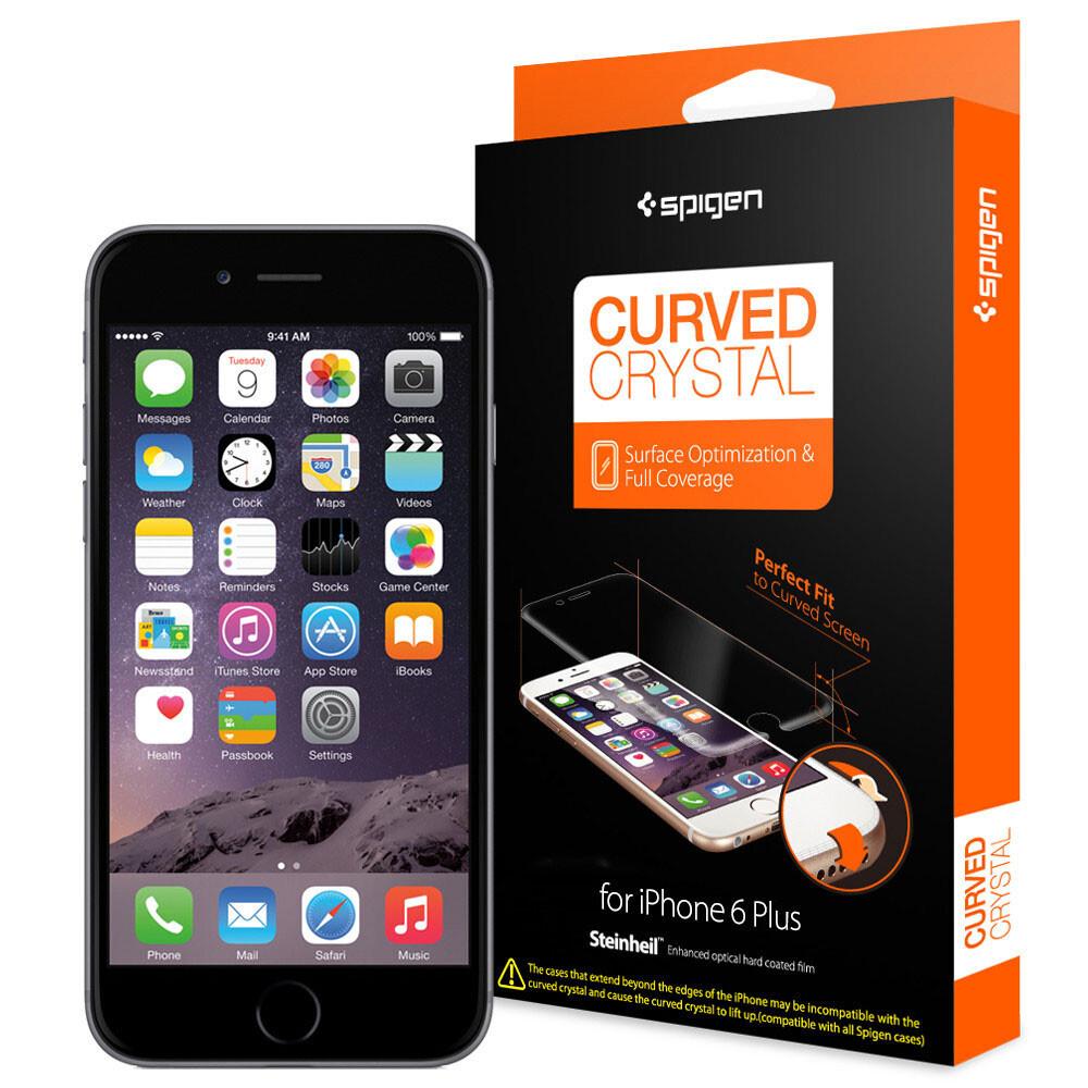 Защитная пленка Spigen Steinheil Curved Crystal для iPhone 6/6s Plus
