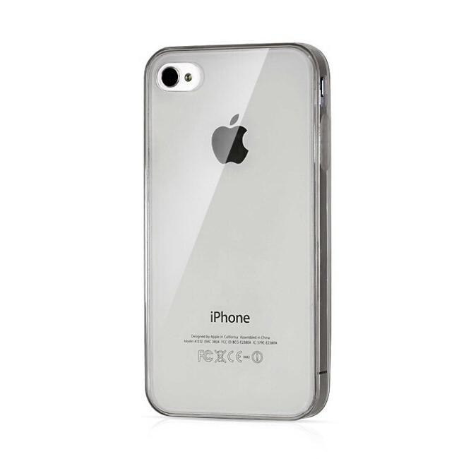 Прозрачный TPU чехол Silicol Black 0.29mm для iPhone 4/4S