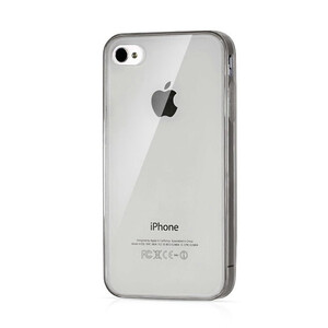 Купить Прозрачный TPU чехол Silicol Black 0.29mm для iPhone 4/4S