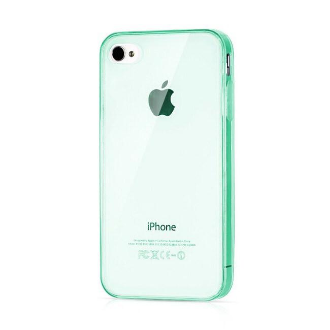 Прозрачный TPU чехол Silicol Green 0.29mm для iPhone 4/4S