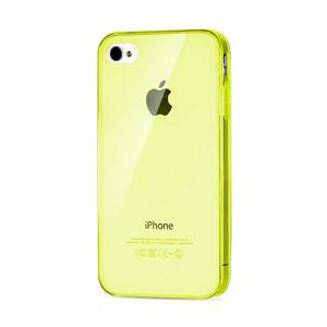Купить Прозрачный TPU чехол Silicol Yellow 0.29mm для iPhone 4/4S