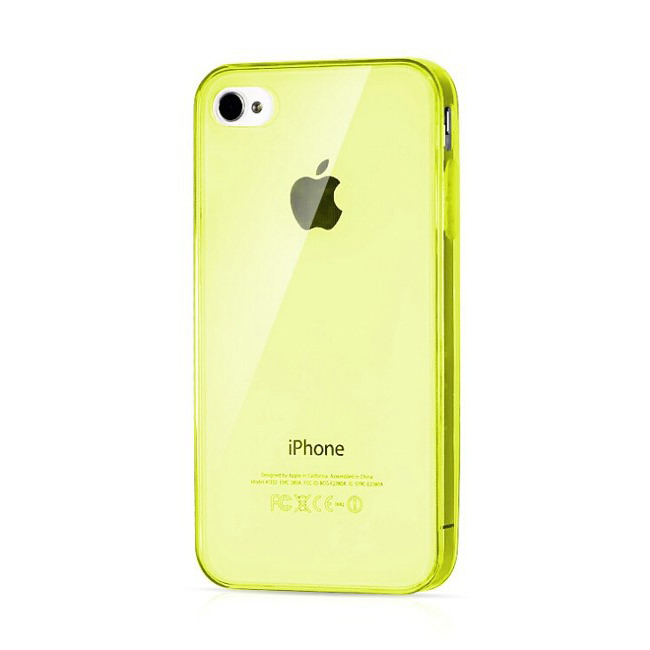 Прозрачный TPU чехол Silicol Yellow 0.29mm для iPhone 4/4S