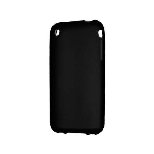 Черный TPU чехол Silicol 0.6mm для iPhone 3G/3GS