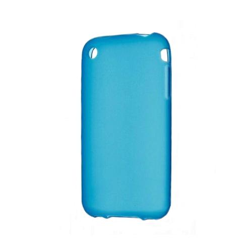 Голубой TPU чехол Silicol 0.6mm для iPhone 3G/3GS