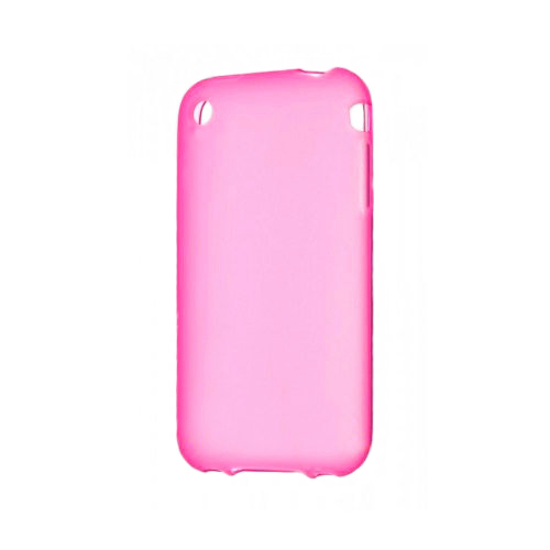 Розовый TPU чехол Silicol 0.6mm для iPhone 3G/3GS