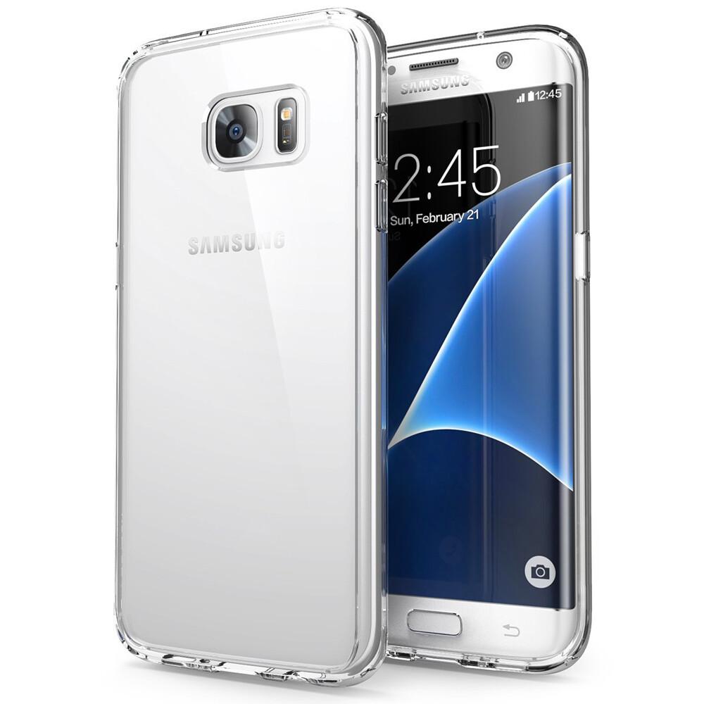 Прозрачный TPU чехол Silicol 0.6mm для Samsung Galaxy S7 edge